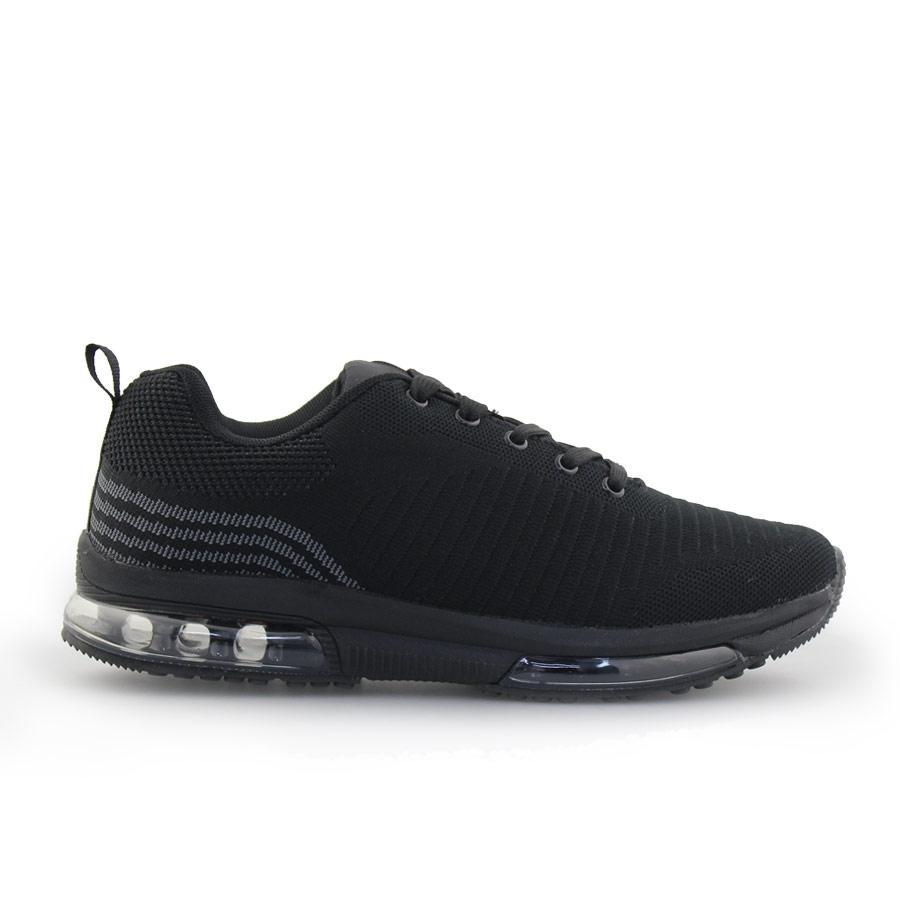 Ανδρικά sneakers με σχέδιο και αερόσολα Μαύρο