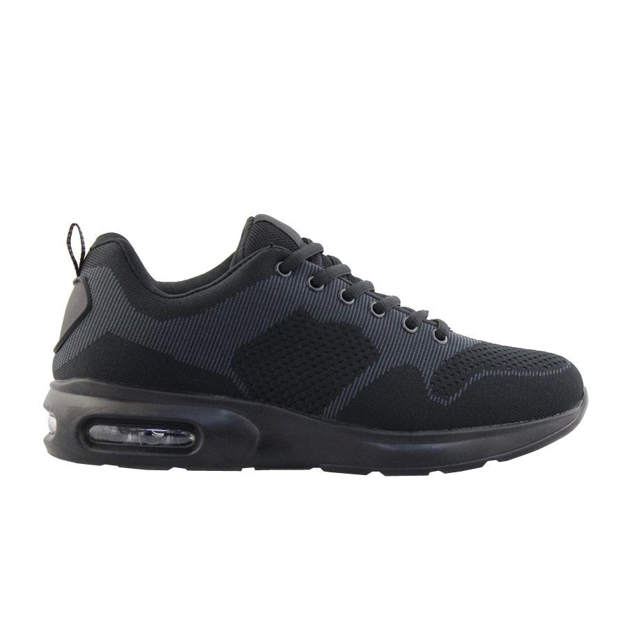 Ανδρικά sneakers δίχρωμα με αερόσολα Μαύρο