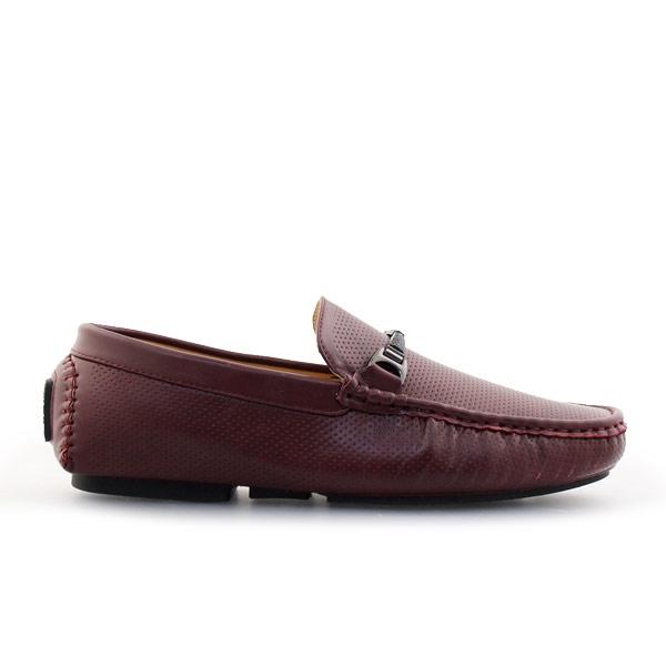 Ανδρικά loafers με λεπτομέρειες Μπορντώ