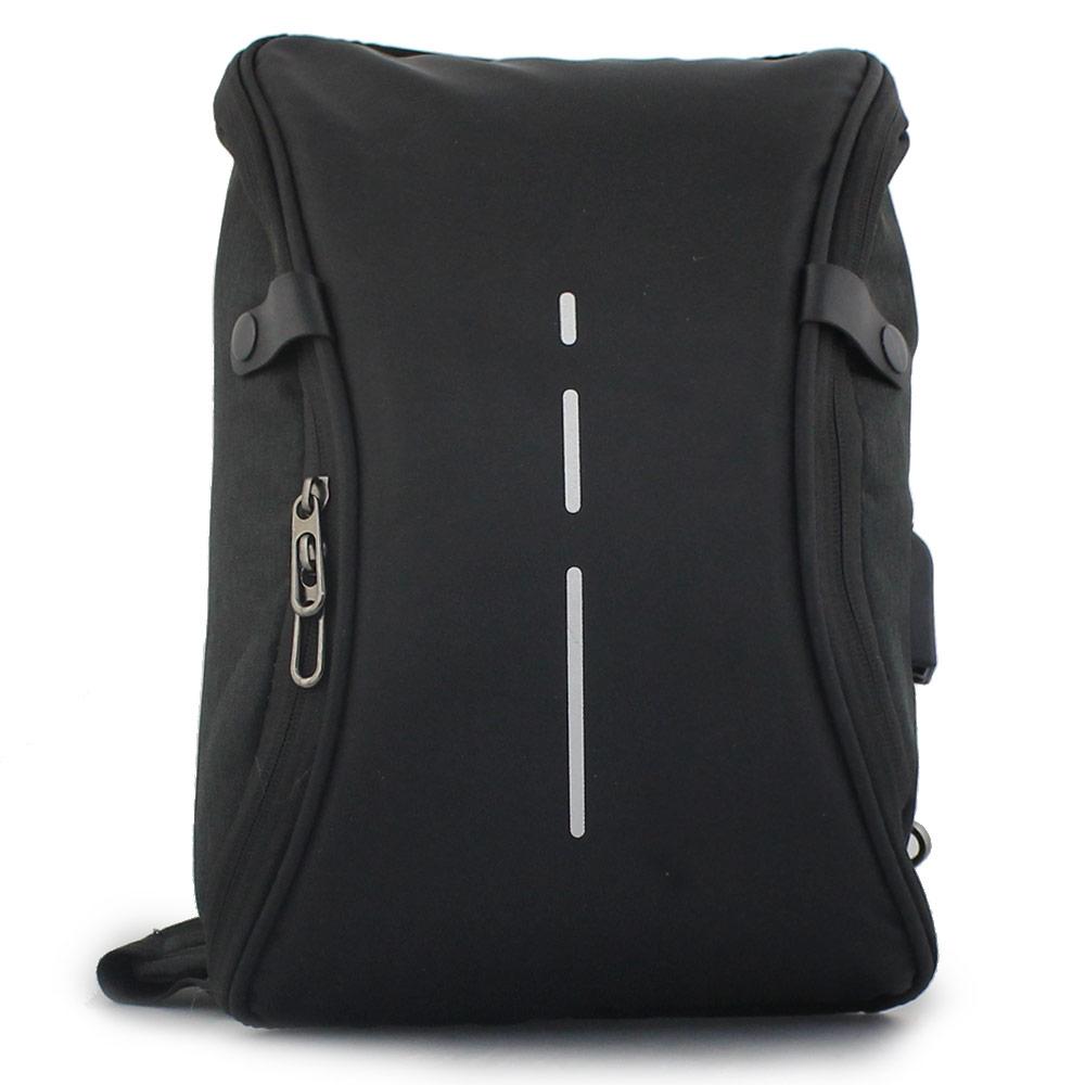 Ανδρικές τσάντες ώμου με κάθετη λεπτομέρεια Μαύρο
