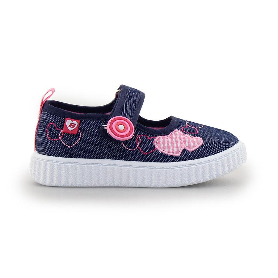 Παιδικά sneakers με καρδούλες Navy
