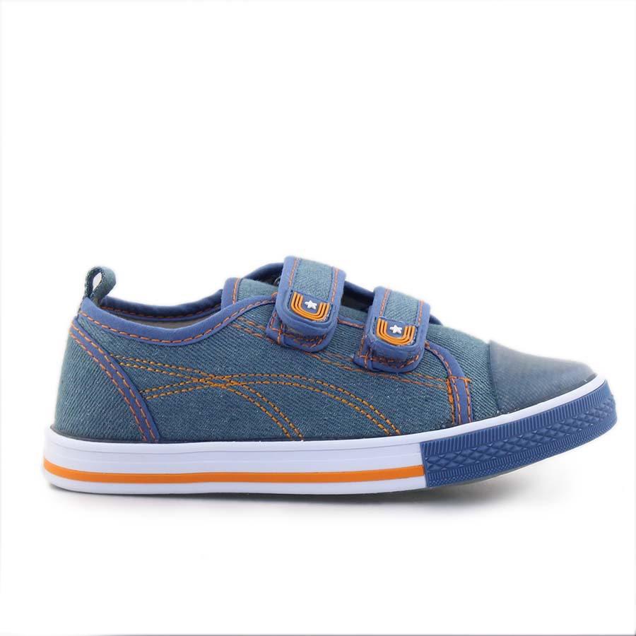 Παιδικά sneakers με ραφές Τζιν