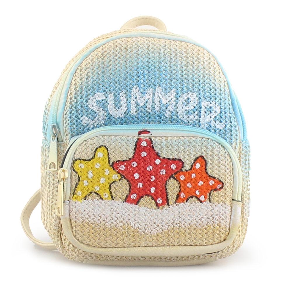 Γυναικεία σακίδια πλάτης με τύπωμα summer Μπεζ