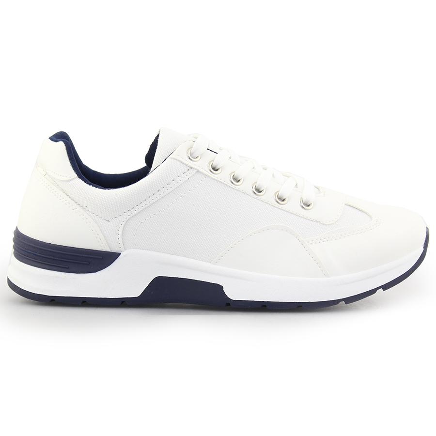 Ανδρικά sneakers σε απλή γραμμή Λευκό