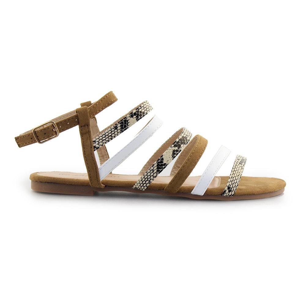 Γυναικεία σανδάλια με λουράκια Ταμπά