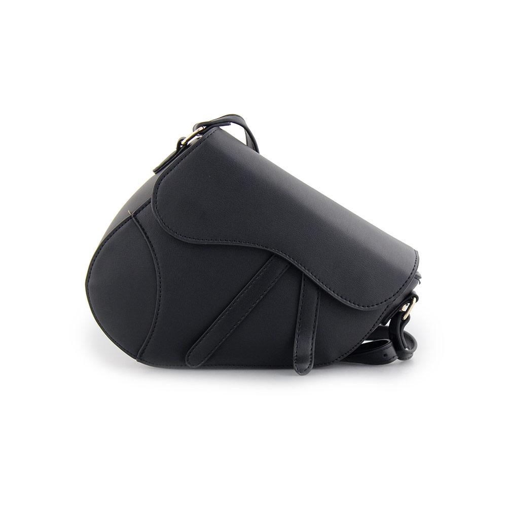 Γυναικείες τσάντες ώμου κυματιστό κόψιμο Μαύρο