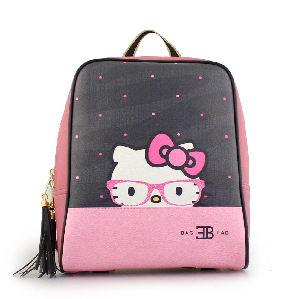 Γυναικεία σακίδια πλάτης πουά με Hello Kitty Ροζ