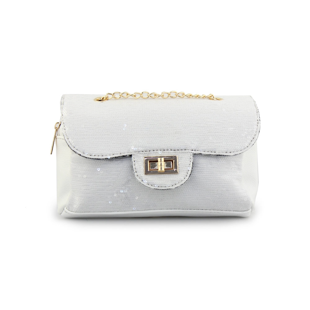 daf8153626 Inshoes Γυναικείες τσάντες ώμου με πούλιες Λευκό