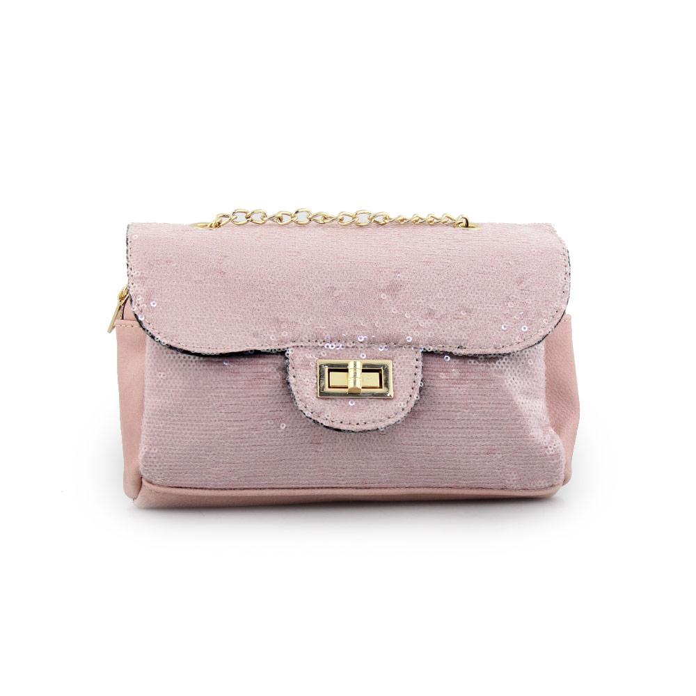 Γυναικείες τσάντες ώμου με πούλιες Ροζ