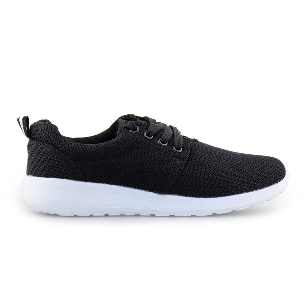 Γυναικεία sneakers με γκοφρέ ύφασμα Μαύρο
