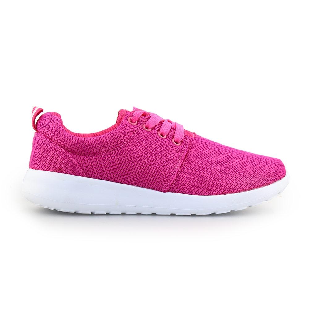 Γυναικεία sneakers με γκοφρέ ύφασμα Ροζ