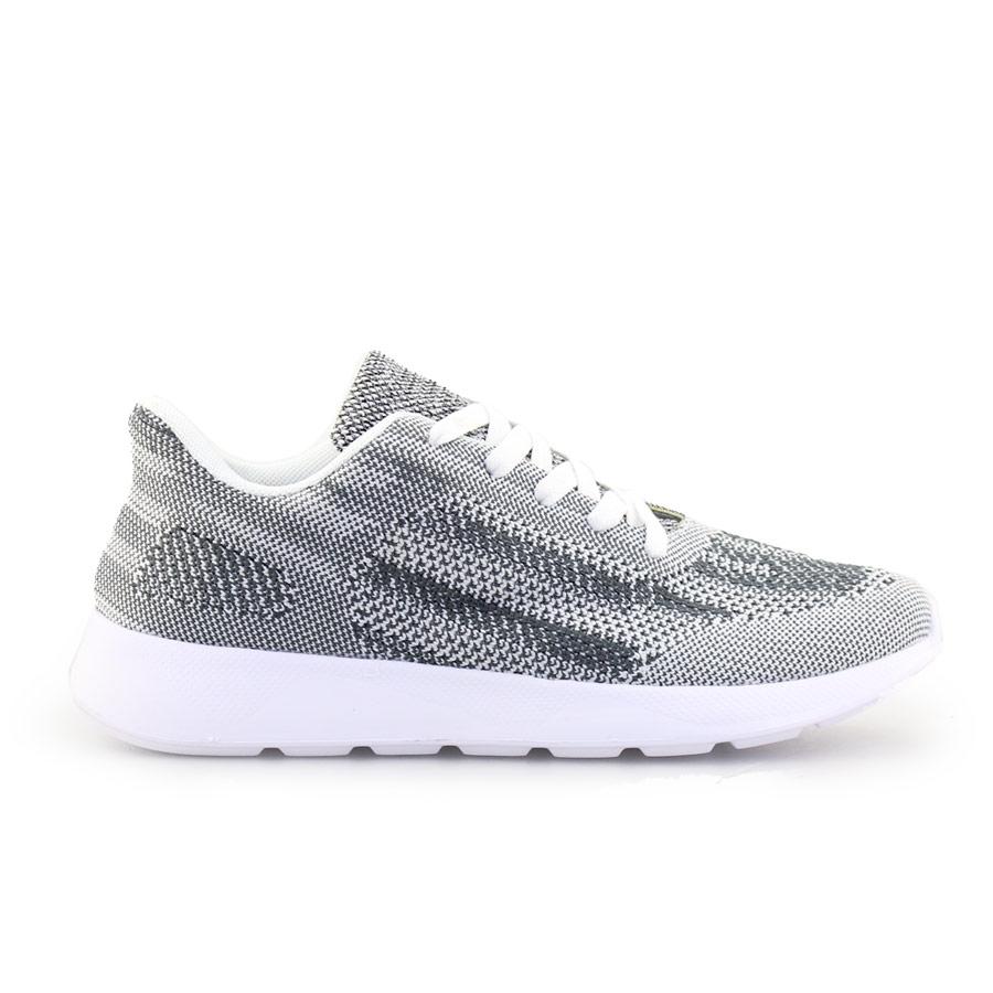 Ανδρικά sneakers με δίχρωμες λεπτομέρειες Γκρι