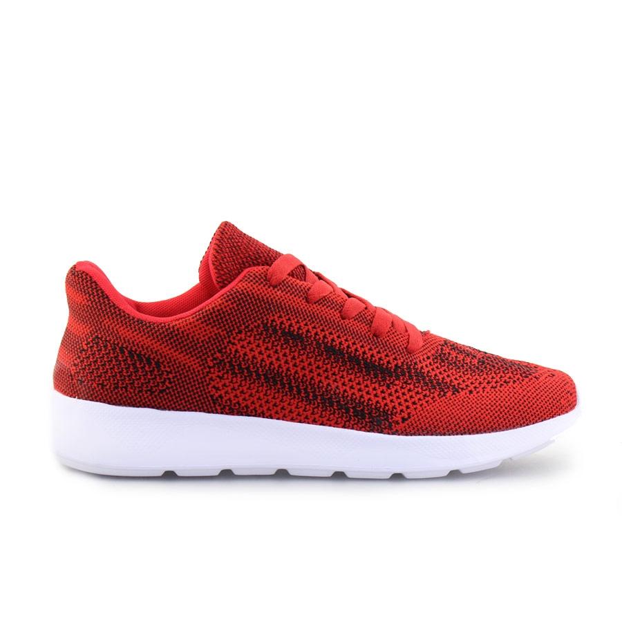 Ανδρικά sneakers με δίχρωμες λεπτομέρειες Κόκκινο