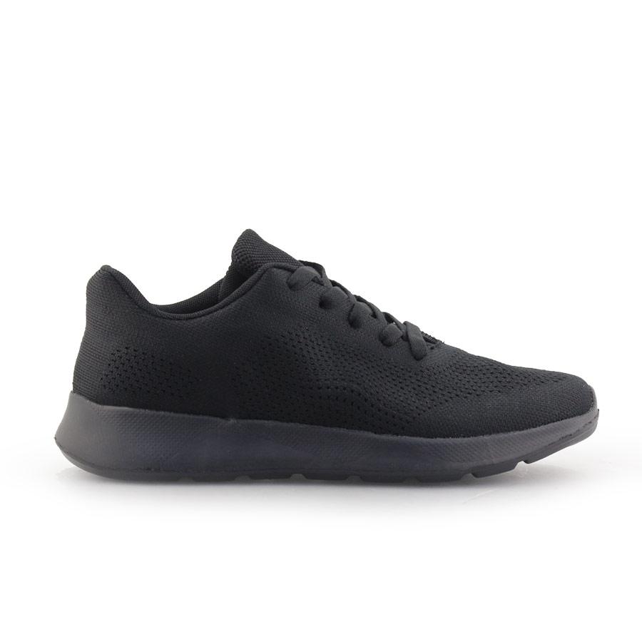 Ανδρικά sneakers με δίχρωμες λεπτομέρειες Μαύρο