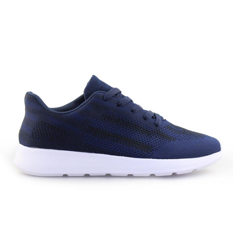 Ανδρικά sneakers με δίχρωμες λεπτομέρειες Navy
