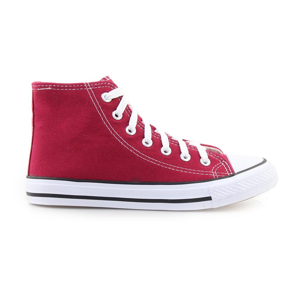 Γυναικεία sneakers μποτάκια Μπορντώ