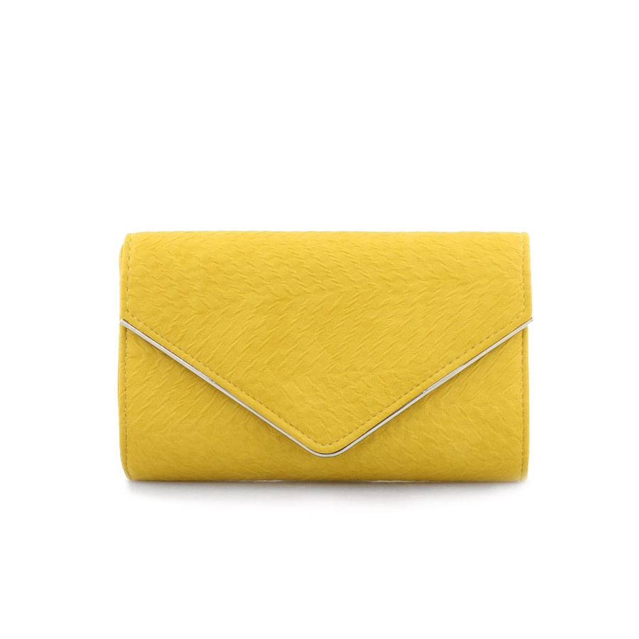 Γυναικείοι φάκελοι με ανάγλυφο μοτίβο Κίτρινο