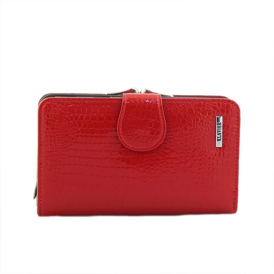 bbad1aac17 Inshoes Γυναικεία πορτοφόλια δερμάτινα με κροκό λουστρίνι Κόκκινο