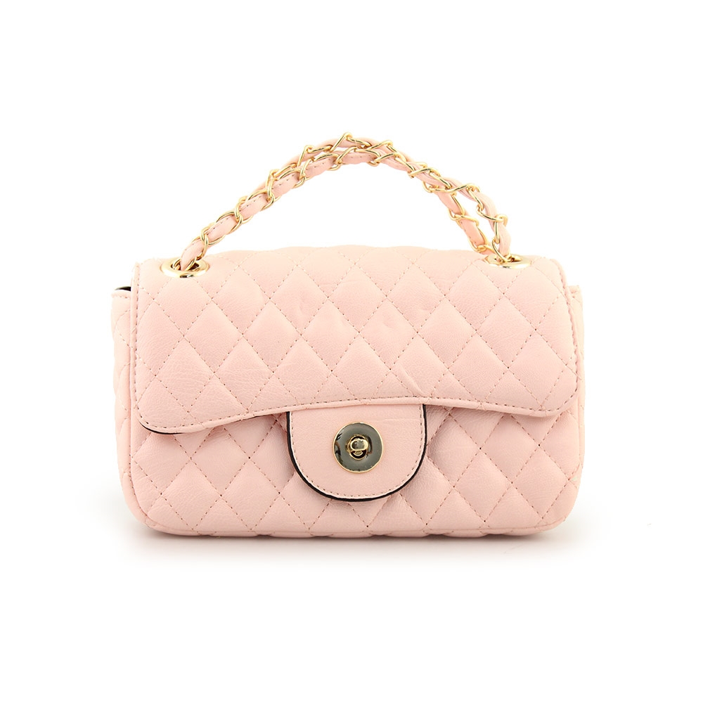 743fab87c0 Γυναικείες τσάντες ώμου καπιτονέ με αλυσίδα Ροζ