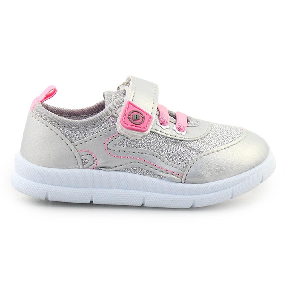 Παιδικά sneakers μεταλλιζέ Ασημί