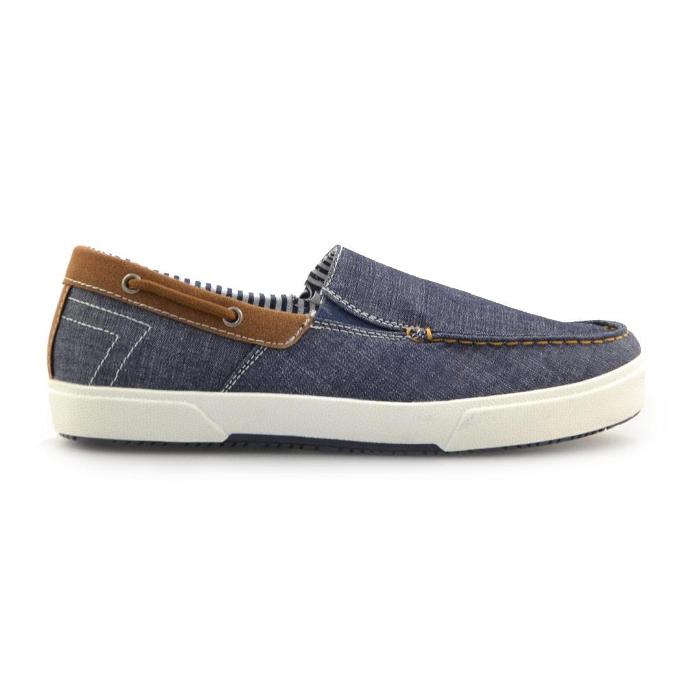 Ανδρικά loafers υφασμάτινα Μπλε
