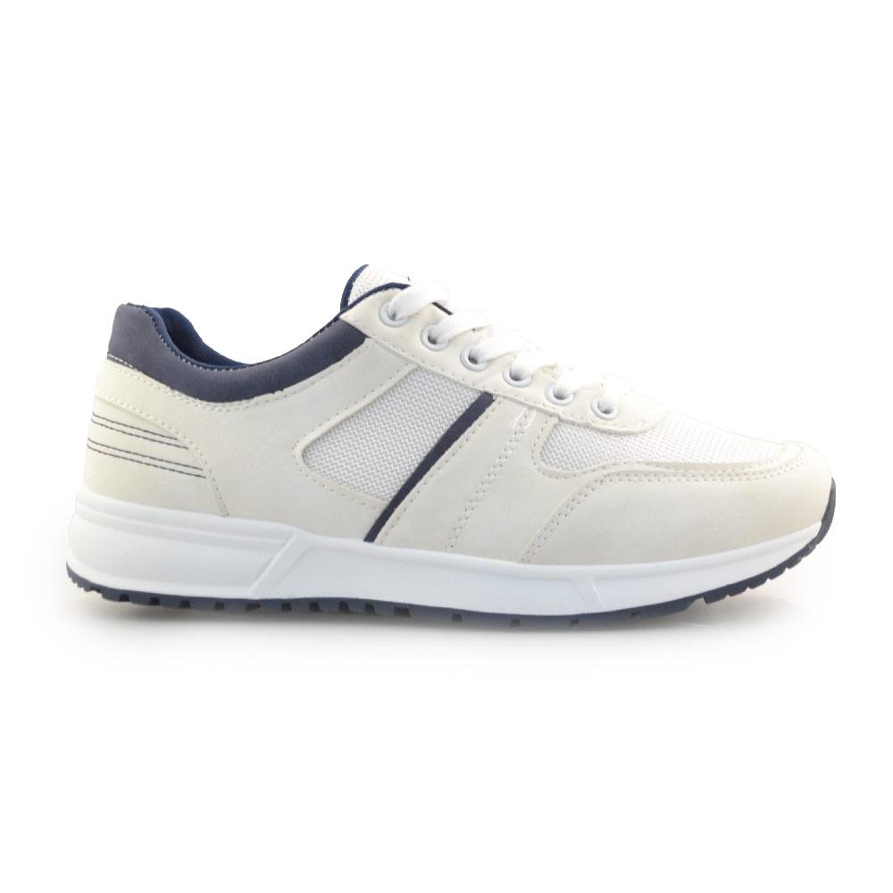 Ανδρικά sneakers με διακοσμητικές ραφές Λευκό