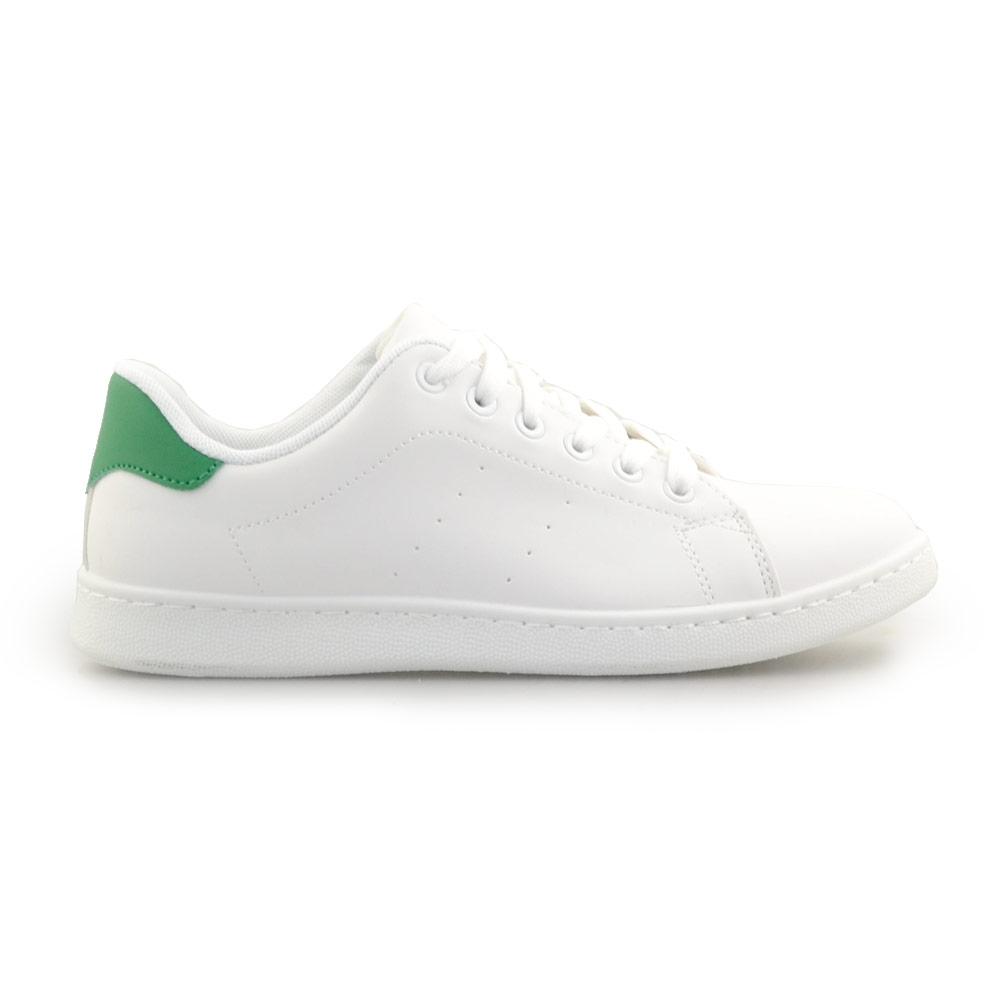 Ανδρικά sneakers μονόχρωμα Λευκό/Πράσινο