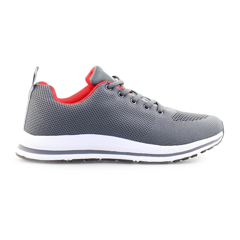 Ανδρικά sneakers με λεπτομέρεια στη σόλα Γκρι/Λευκό