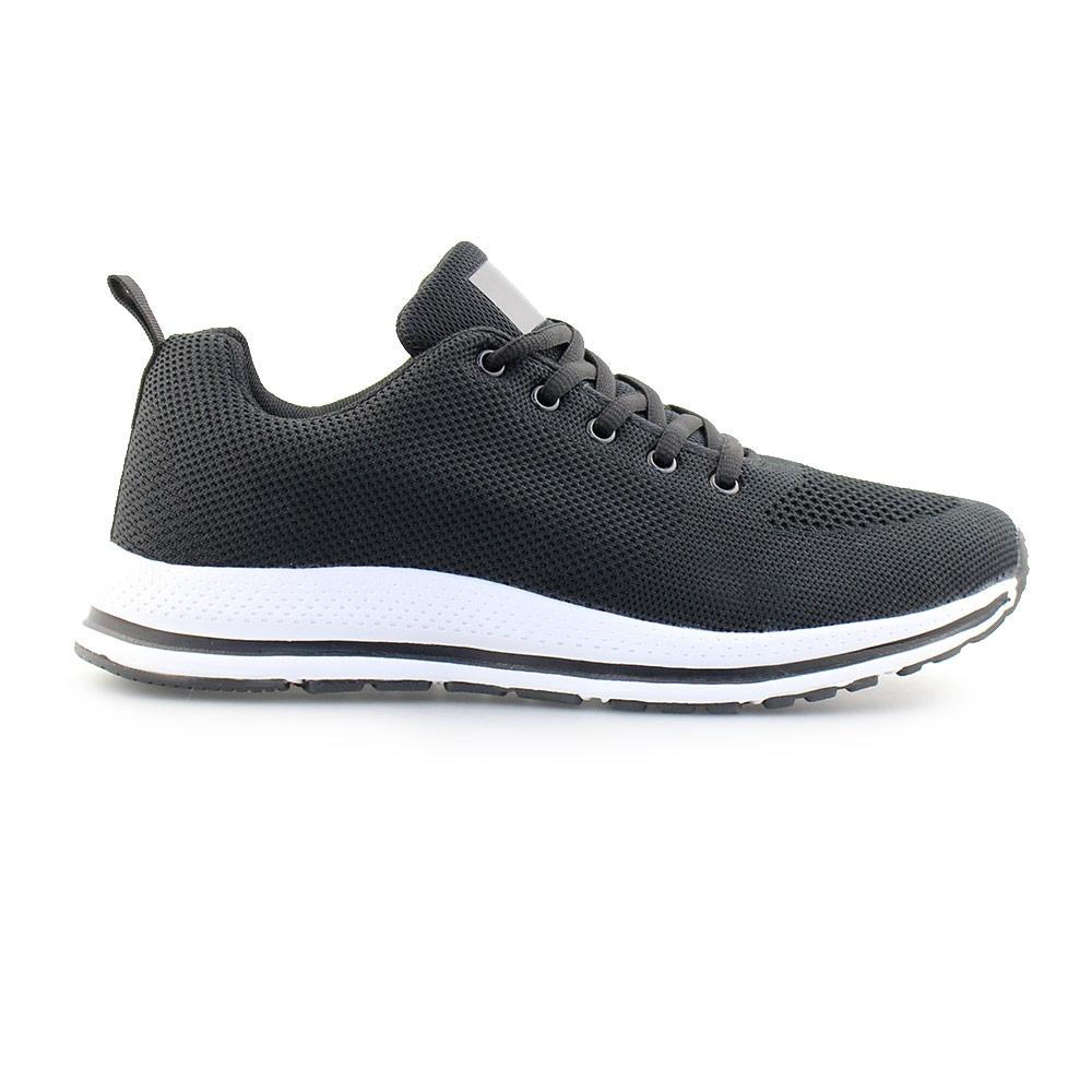 Ανδρικά sneakers με λεπτομέρεια στη σόλα Μαύρο/Λευκό