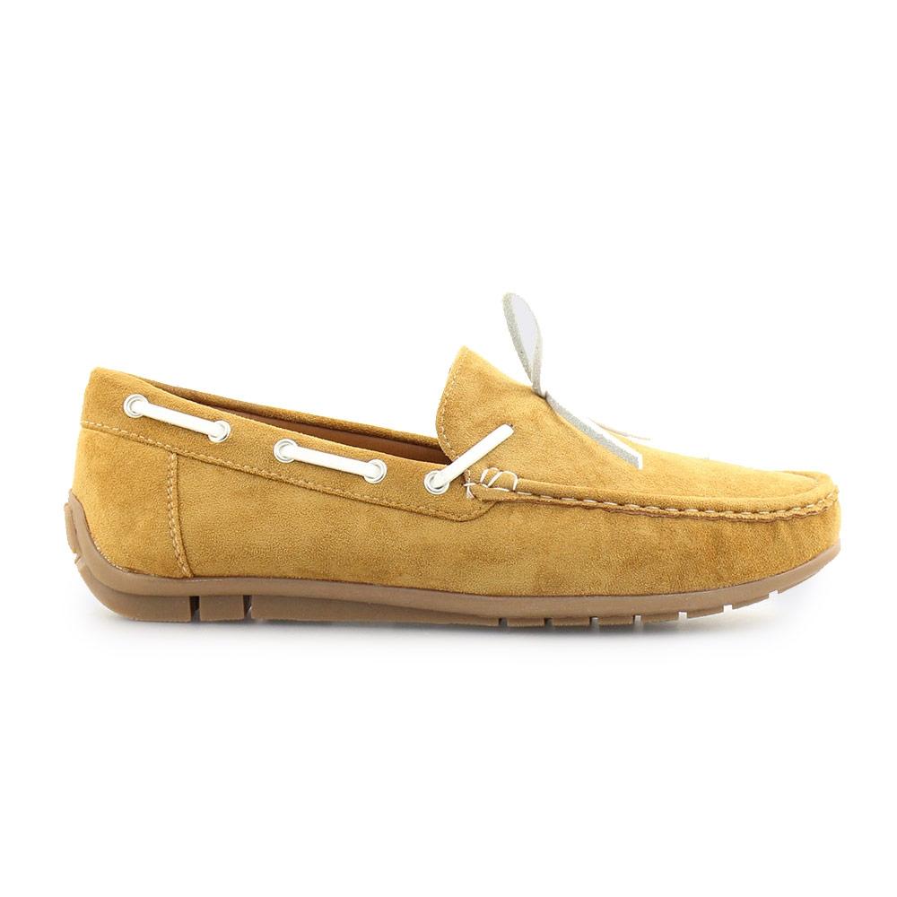Ανδρικά loafers μονόχρωμα Κάμελ