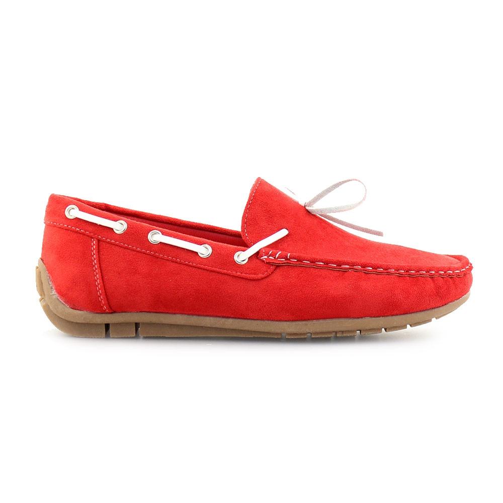 Ανδρικά loafers μονόχρωμα Κόκκινο