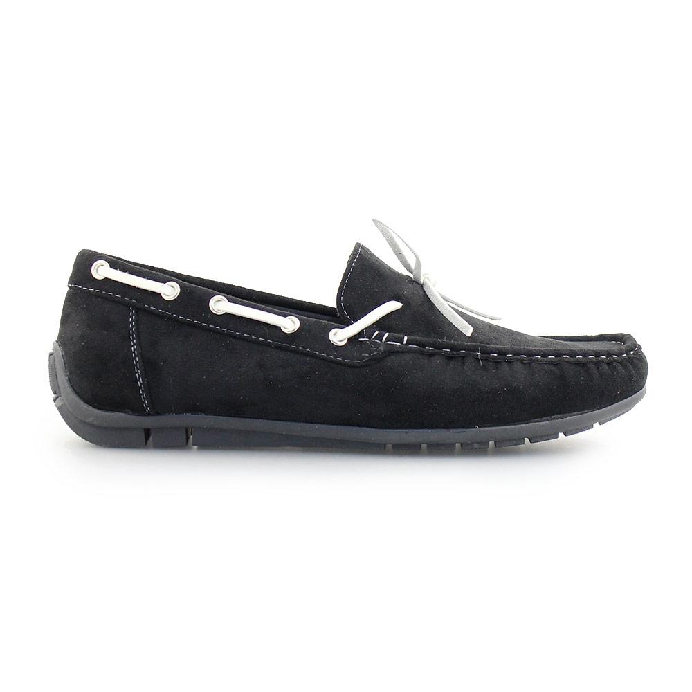 Ανδρικά loafers μονόχρωμα Μαύρο