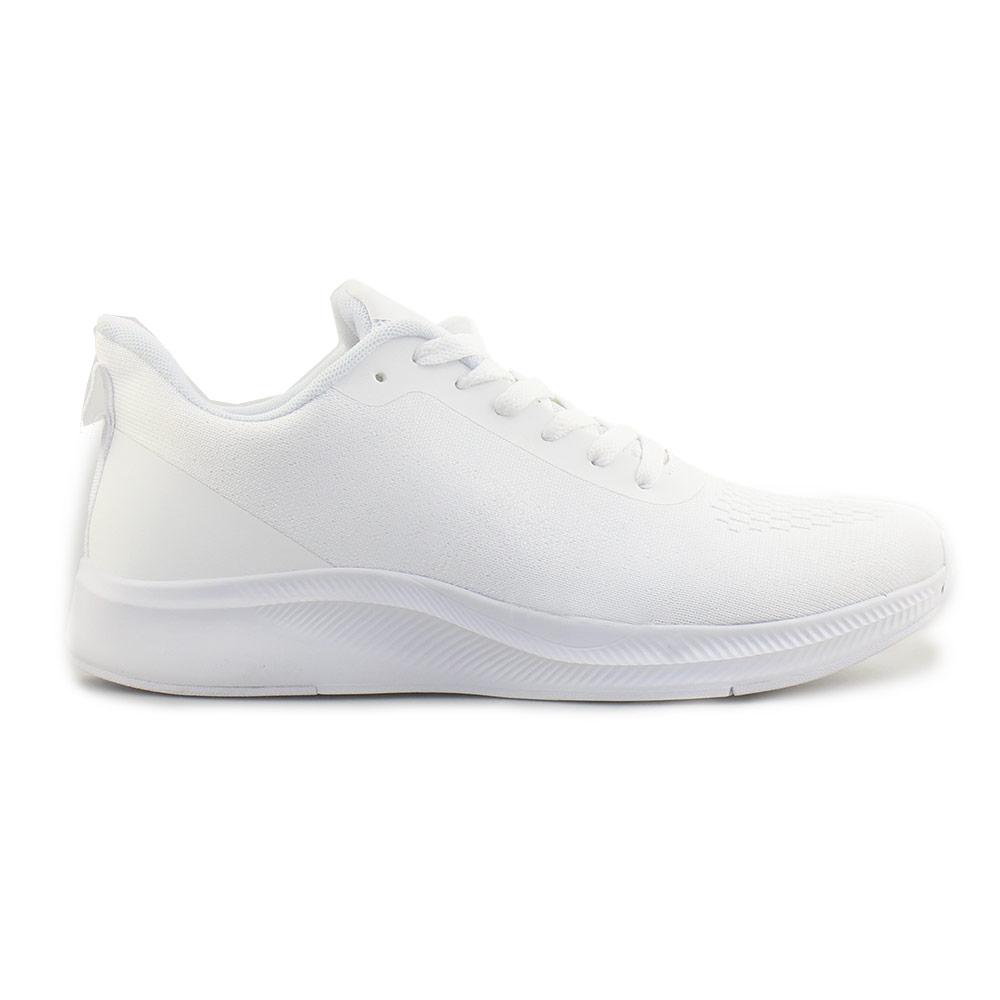 Ανδρικά sneakers με λεπτομέρειες στη σόλα Λευκό