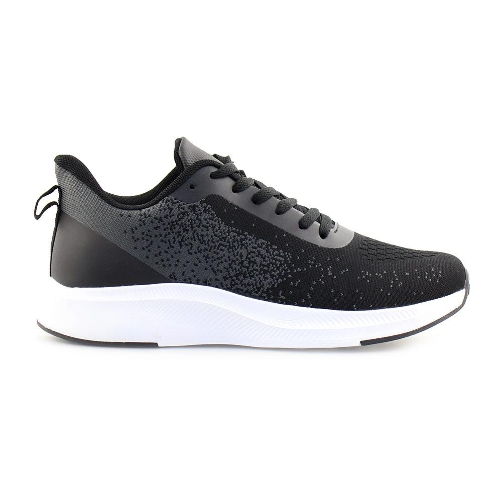 Ανδρικά sneakers με λεπτομέρειες στη σόλα Μαύρο/Λευκό