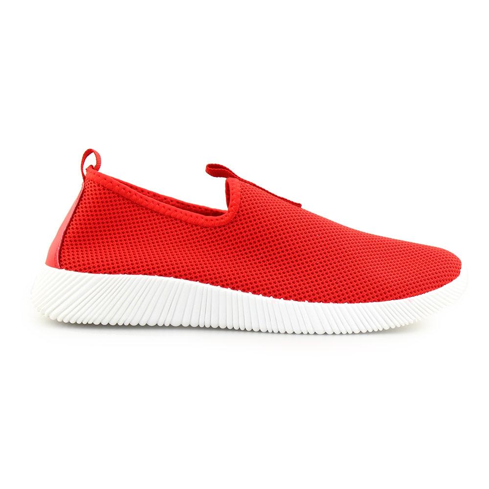 Ανδρικά sneakers ελαστικά Κόκκινο/Λευκό