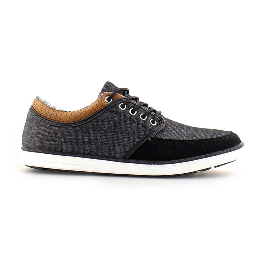Ανδρικά sneakers με διχρωμία στο γιακά Μαύρο