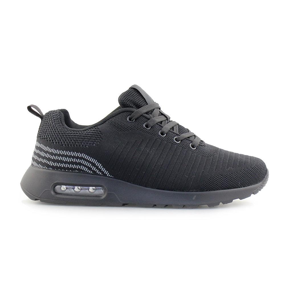 Ανδρικά sneakers με αερόσολα Μαύρο