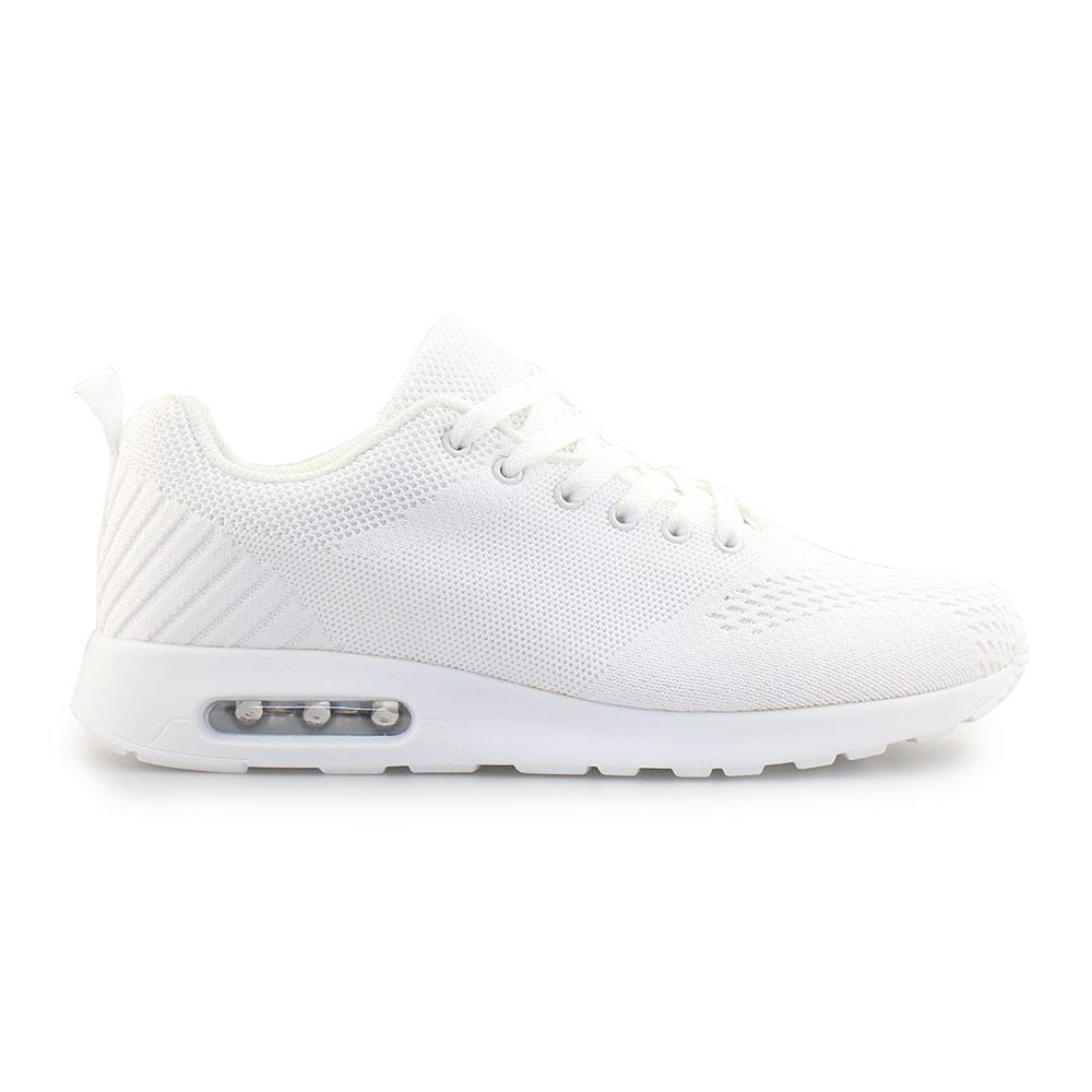 Ανδρικά sneakers μονόχρωμα με αερόσολα Λευκό
