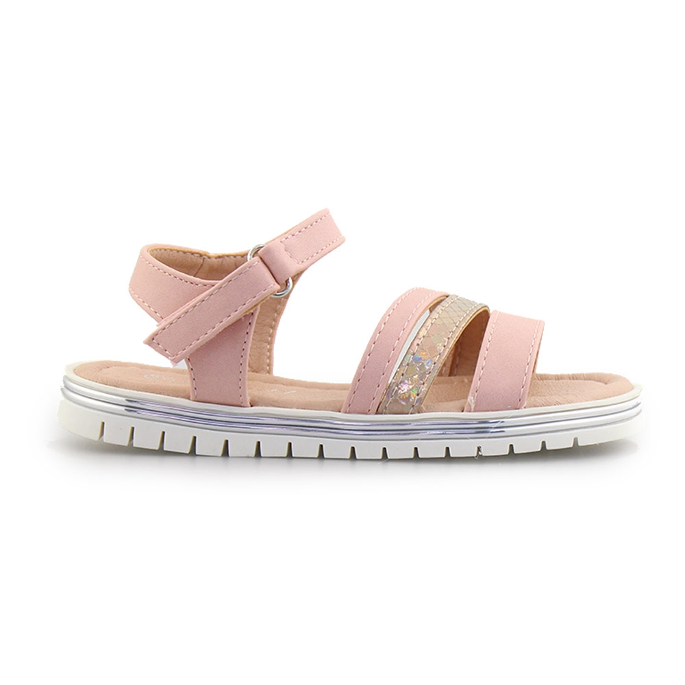 ef5e83cf344 Παιδικά πέδιλα με μεταλλιζέ λεπτομέρειες Ροζ - Roe Shoes Collection