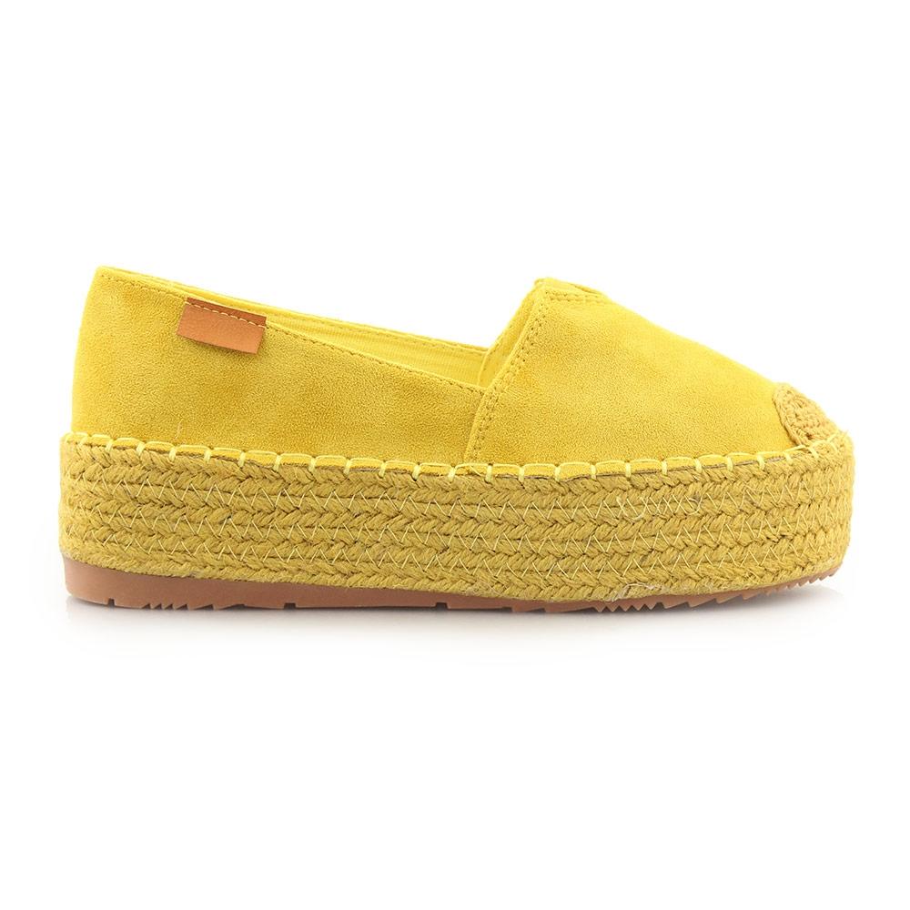Γυναικείες εσπαντρίγιες μονόχρωμες Κίτρινο