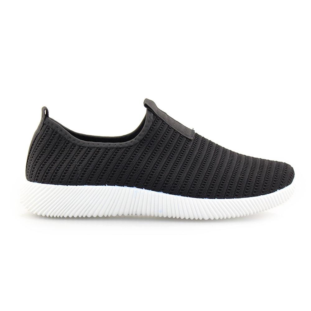 Ανδρικά sneakers ελαστικά Μαύρο/Λευκό