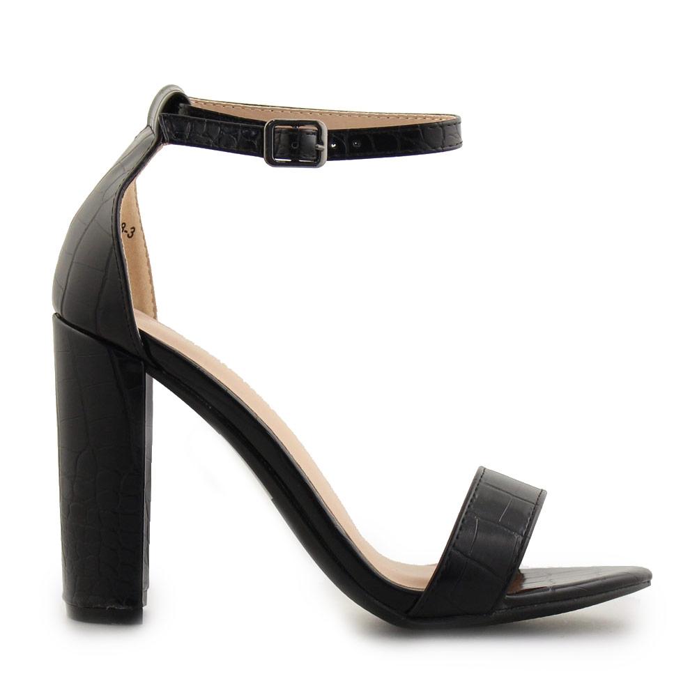 1fb794649f3 Inshoes Γυναικεία πέδιλα με κροκό μοτίβο Μαύρο