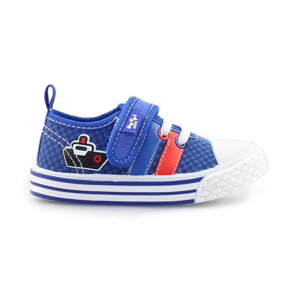 Παιδικά sneakers καρό Μπλε