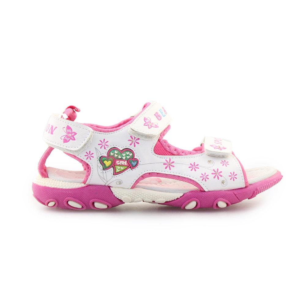 713a7802d90 Inshoes Παιδικά πέδιλα με πεταλούδες Λευκό