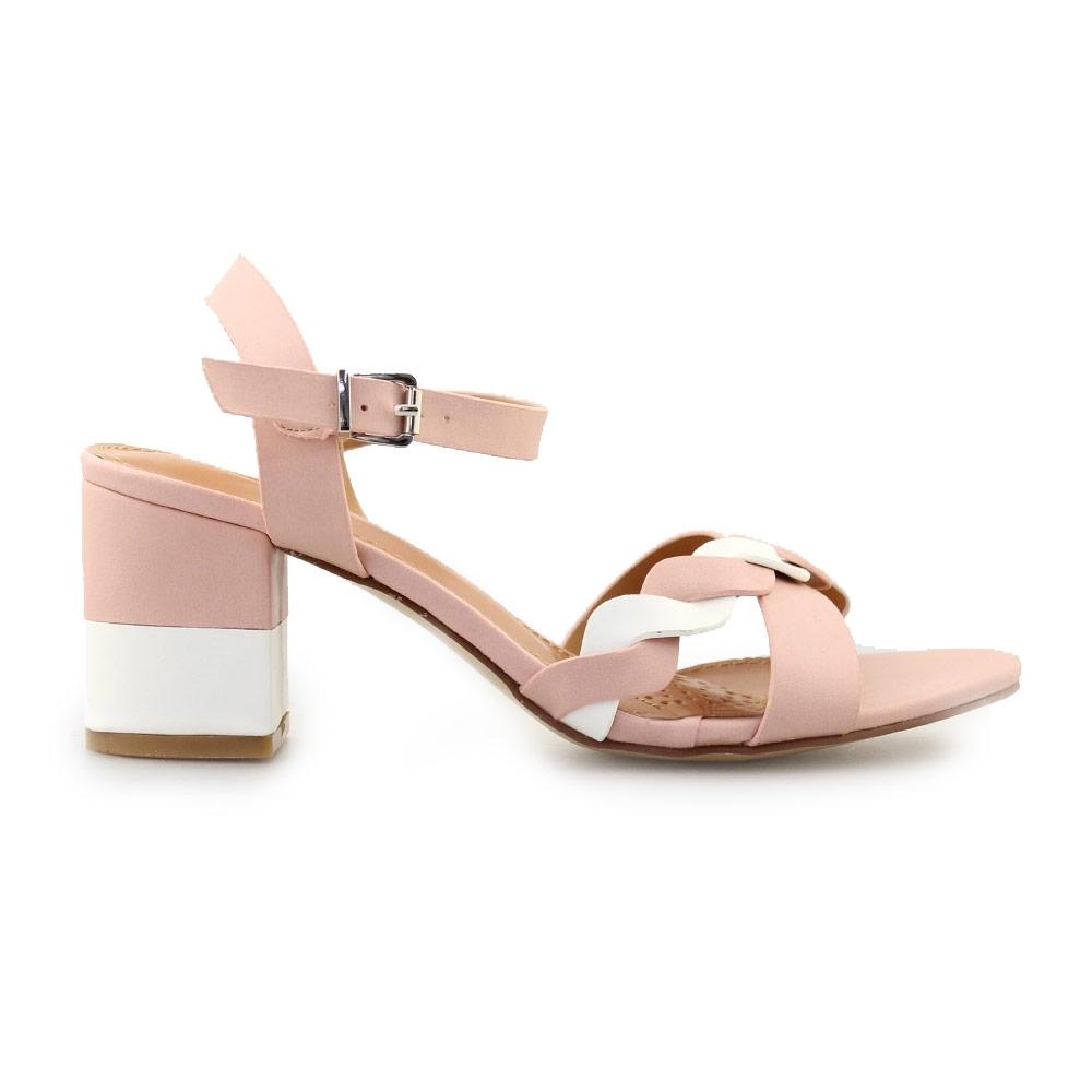 Γυναικεία πέδιλα δίχρωμα Ροζ/Λευκό