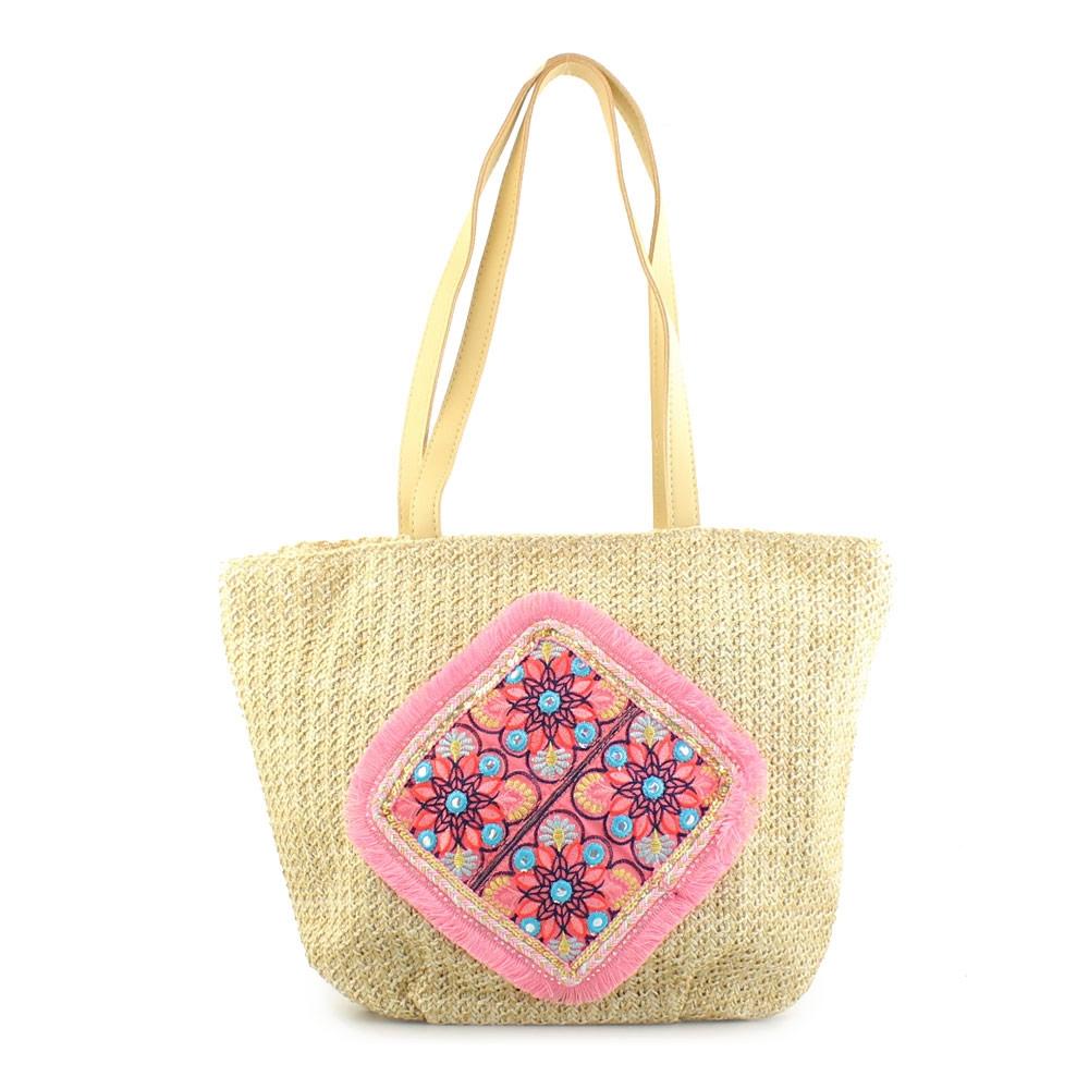 Γυναικείες τσάντες θαλάσσης με μοτίβο με λουλούδια Πούρο