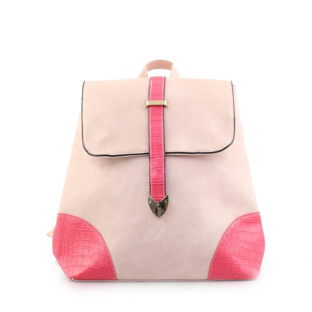 Γυναικεία σακίδια πλάτης με κάθετο δέσιμο Ροζ