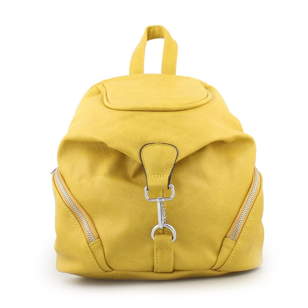 Γυναικεία σακίδια πλάτης με εξωτερικές θήκες Κίτρινο