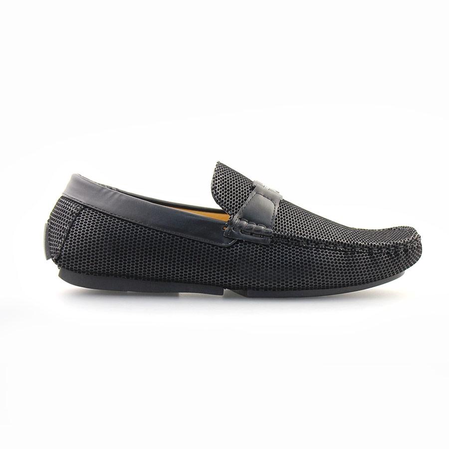 Ανδρικά loafers με αγκράφα Μαύρο