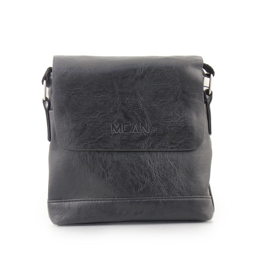 Ανδρικές τσάντες ώμου με ανάγλυφη λεπτομέρεια Μαύρο